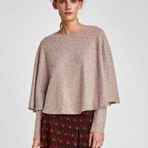Small zara cape sweater